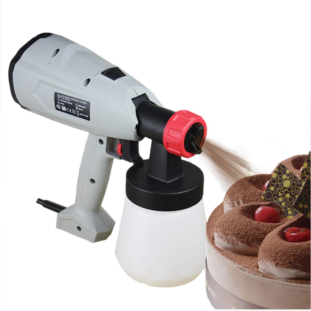 Mousse Cake Sprayer Cake Coloring Sprayer Cake Sandblast Machine with Spray Nozzle & Spool 800ml (110V)