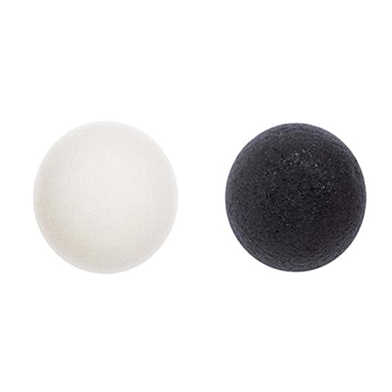 Missha - Natural konjac cleansing puff (white clay)/limpiador schwämmchen cubiertos (blanco