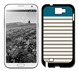 Teal & Mocha Stripes Samsung Galaxy Note 2 Note II N7100 Case Fits Samsung Galaxy Note 2 Note II N7100