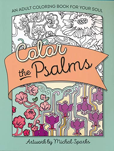 2 Item Bundle Psalms Scripture Coloring Set for Adults with Colored Pencils in 24 Colors