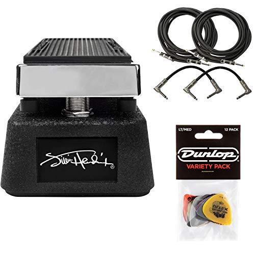 Dunlop JHM9 Jimi Hendrix Cry Baby Mini Wah Pedal Bundle with 4 Free Cables and Dunlop Variety Pick - Pedals Jimi Hendrix