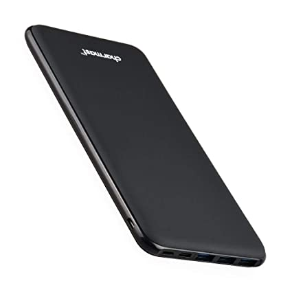 Charmast 26800mAh Powerbank Externer Akku Typ C Micro USB Slim Ladegerät mit 3 Eingängen 4 Ausgängen für MacBook Nintendo Swi