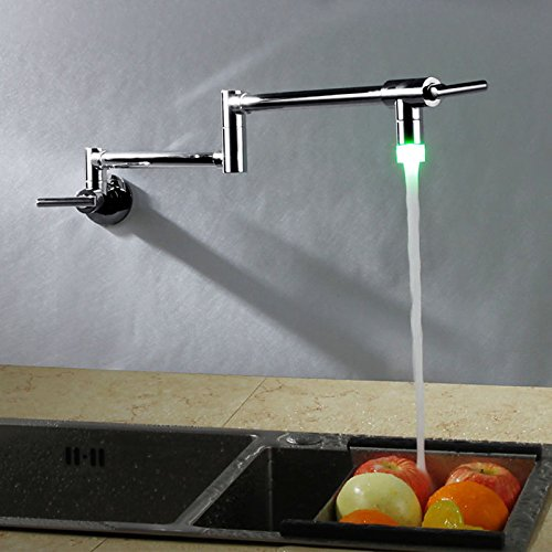 Kitchen faucet - Contemporary Chrome Pot Filler Wall Mounted ()
