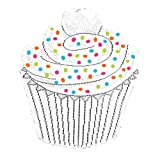 Heritage Lace Cupcake 15-Inch by 17-Inch Set of Two White Placemat with Sprinkles