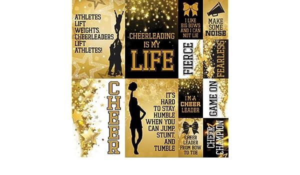 Cheerleading Cheer 12x12 Poster Stickers