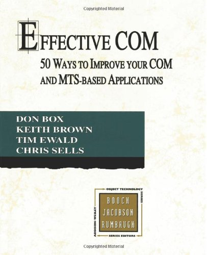 Effective Com  50 Ways To Improve Your Com And Mts Based Applications