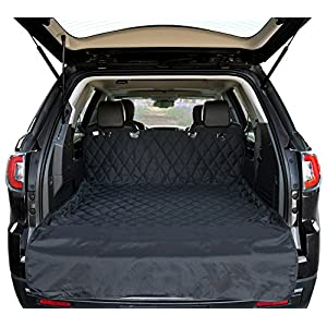Arf Pets Cargo Liner Cover for SUVs and Cars, Waterproof Material, Non Slip Backing, Extra Bumper Flap Protector, Large Size - Universal Fit 53