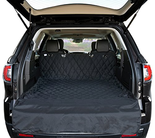 (Arf Pets Cargo Liner Cover for SUVs and Cars, Waterproof Material, Non Slip Backing, Extra Bumper Flap Protector, Large Size - Universal Fit)