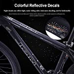 NENGGE-Mountain-Bike-275-Pollici-Grande-Pneumatico-Hardtail-Mountain-Biciclette-Telaio-Alluminio-Leggero-Front-Suspension-Mountain-BikeRosso33-Speed