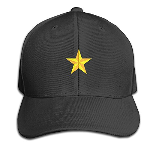 Hhil Swater Unisex Yellow Star Fashion Outdoor Peaked Baseball Cap