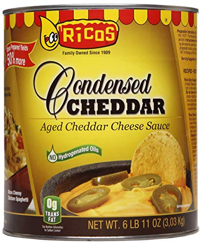 Rico's Cheddar Cheese Sauce, #10 Size Can