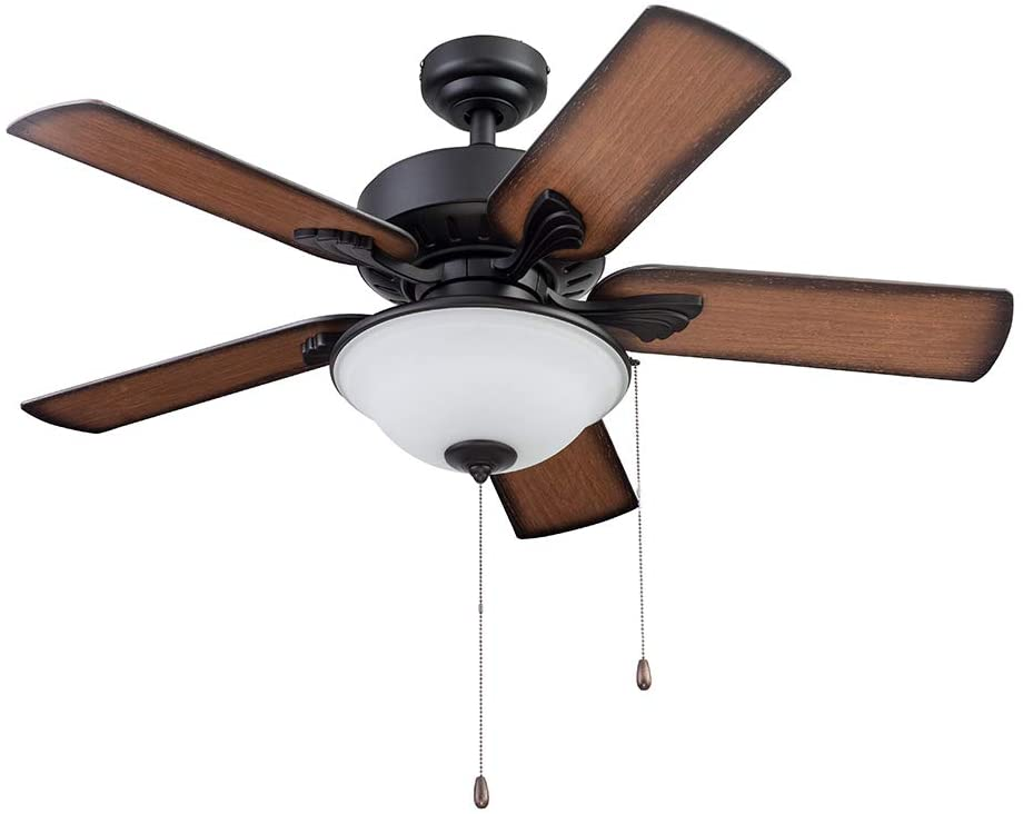 Portage Bay 51449 Viretta Ceiling Fan, 42, Black