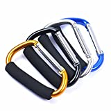 GOOTRADES 4 Pack Large Durable Carabiner Hooks Mummy Clip Pushchair Shopping Bag Holder Carry Handle