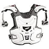 Leatt Adventure Adult Chest Protector Motocross/Off-Road/Dirt Bike Motorcycle Body Armor - White / One Size