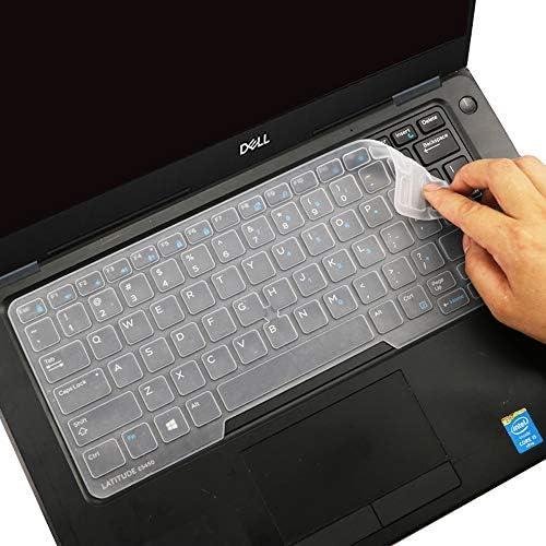 Dell Latitude - Funda para teclado Dell Latitude E7450 E7470 E5470 E7480 E5450 E5491 5480 5490 7490, Dell 3340 E3340 - Protector de teclado para ordenador portátil, transparente (diseño de EE. UU., con apuntador) 4