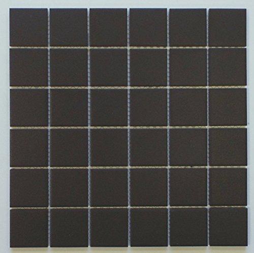 Vintage Black Unglazed Square 2x2 Inch Porcelain Floor & Wall Tile (10 Pcs/10 Sq. Ft. Per Case, $1 Standard Shipping) (Ceramic Tile Daltile Flooring)