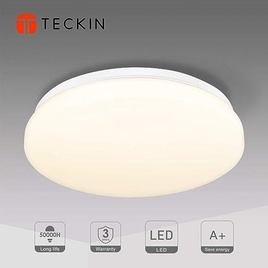 Teckin - Lámpara de techo LED de 24 W, para despacho, salón ...