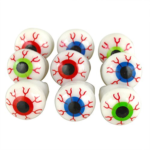 12PCS Halloween Flash Light Eyeball Ring Kid Party Favor Supply Bag Prop Gift]()