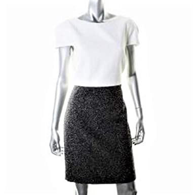 d458a2a8994c 4.collective Women's Black White Tweed Textured Sheath Dress SZ 12 ...