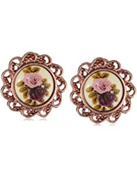 Manor House Rose Gold-Tone Clip-On Earrings