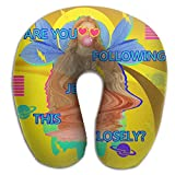 Are You Following Jesus This Closely Christian Saying Memory Foam Travel Neck Pillow U-shaped Neck Pillow