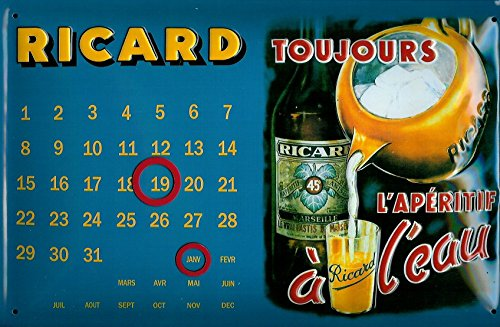 ricard-pastis-toujours-calendar-nostalgic-3d-embossed-domed-strong-metal-tin-sign-787-x-1181-inches