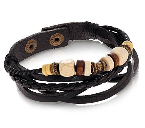 Vintage Adjustable Nautical Leather Bracelet