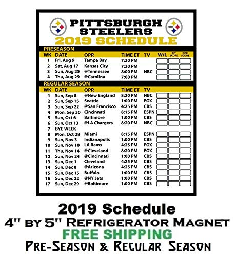 Revered image with regard to pittsburgh steelers printable schedule