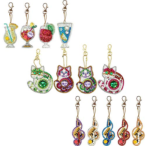 DIY Keychains Diamond Painting Kits for Kids