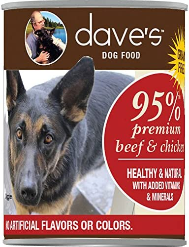 Dave S 95 Premium Meats Beef And Chicken Meat Dog Food 12 Cans Per Case , 13.2 Oz.