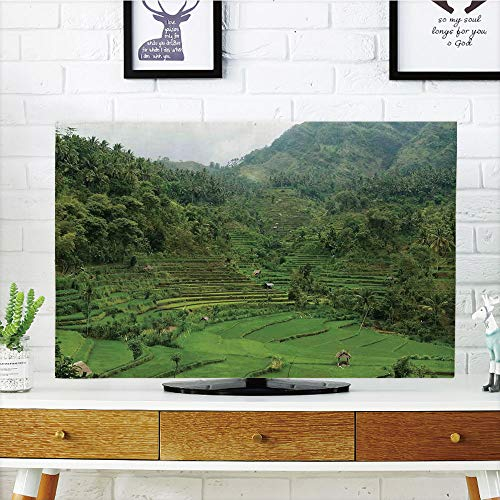Cheap  iPrint LCD TV Cover Multi Style,Balinese Decor,Picture of Terraced Rice Paddies in..