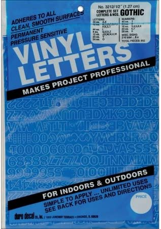 """Permanent Adhesive Vinyl Letters /& Numbers 1/"""" 183//Pkg-Gold"""