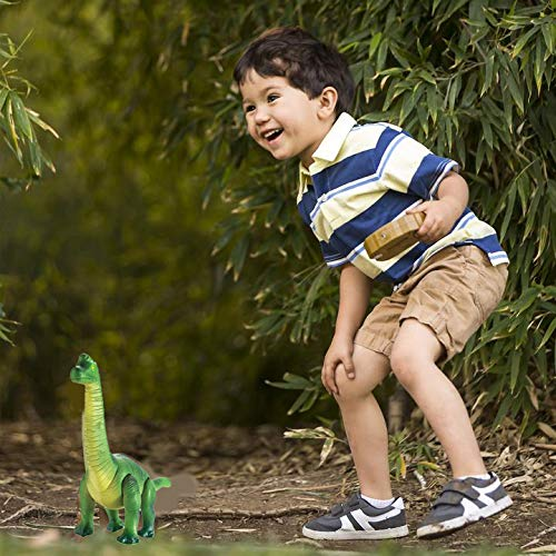 Liberty Imports Dino Planet Remote Control RC Walking Dinosaur Toy with Shaking Head, Light Up Eyes and Sounds (Brachiosaurus) by Liberty Imports (Image #5)