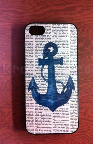Krezy Case iPhone 6 case, iPhone 6 Case, Nautical Anchor with dictionary art iPhone 6 Cases, iPhone 6 Cover, iPhone...