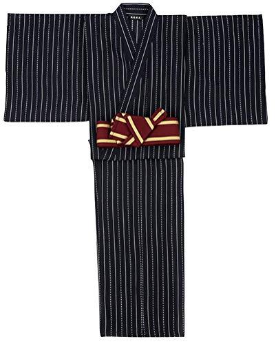 Japanese Traditional Kimono Men,Halloween Samurai Outfit Cosplay Costume Kyoto Yukata Long Robe(C)