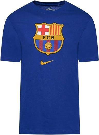 NIKE FC Barcelona Temporada 2020/21 - FCB M Nk tee Evergreen Crst 2cd3115-455 Camiseta Unisex Adulto