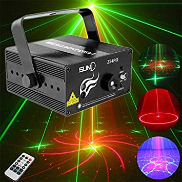Amazon.com: jardín solar Mini RGB proyector láser discoteca ...