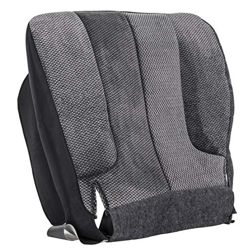 ECOTRIC Driver Side Bottom Cloth Seat Cover for 2003 2004 2005 Dodge Ram 1500 2500 3500 SLT -LH Side Dark Gray