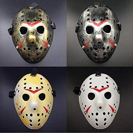 Máscaras de fiesta vintage delicadas Jason Voorhees Freddy Hockey Festival Halloween Mascarada máscara