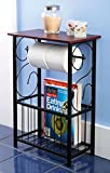 Home N Kitchenware Collection Bathroom Organizer, Gramercy scroll design and table holder