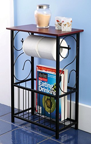 Home N Kitchenware Collection Bathroom Organizer, Gramercy scroll design and table holder by Home N Kitchenware