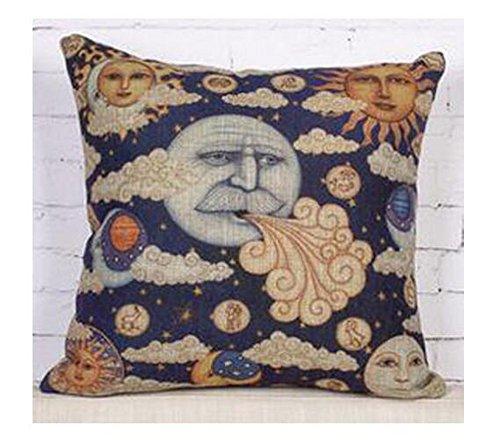 Ancient Egyptian wall paintings retro sun god moon god Throw Pillow Case Cushion Cover Decorative Cotton Blend Linen Pillowcase for Sofa 18