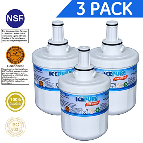 Price comparison product image IcePure DA2900003G Refrigerator Water Filter Replacement Samsung DA2900003G,HAFIN1,PUR W10132126,RWF1000A 3 PACK