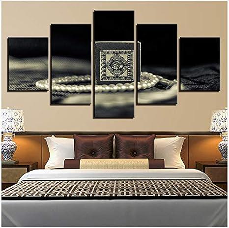 LQWE Pittura su Tela Tela HD Stampa Pittura per Soggiorno Decor 5 ...