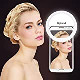 BGTREND 36 LED Ring Light for Phone - Selfie LED Camera Light with Rechargeable Battery for iPhone iPad Samsung Galaxy Photography Phones (White)