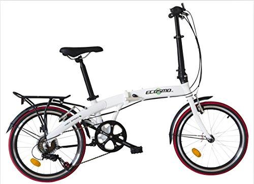 Ecosmo 50,8 cm aleación ligera plegable bicicleta ciudad, 12 kg - 20AF09W: Amazon.es: Deportes y aire libre