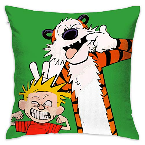 (PSnsnX Calvin and Hobbes Tiger Pillow Covers Home Decor Throw Pillow Covers Cushion)