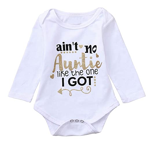 cd52c550a Amazon.com  Keliay Infant Baby Girls Boys Long Sleeve Letter Print ...