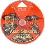 South Bend Bass Casting Sinker Assortment (Silver/Assorted)