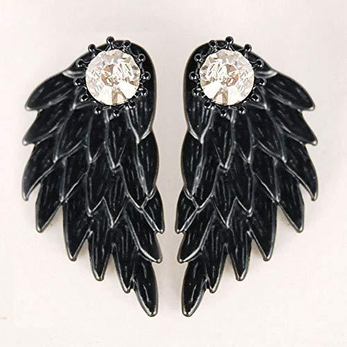 Women's Cool Jewelry Angel Wings Rhinestone Alloy Drop Stud Earrings Hanican, A by Hanican (Image #1)